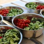 梨花幼稚園で野菜