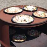 梨花幼稚園でピザ作り